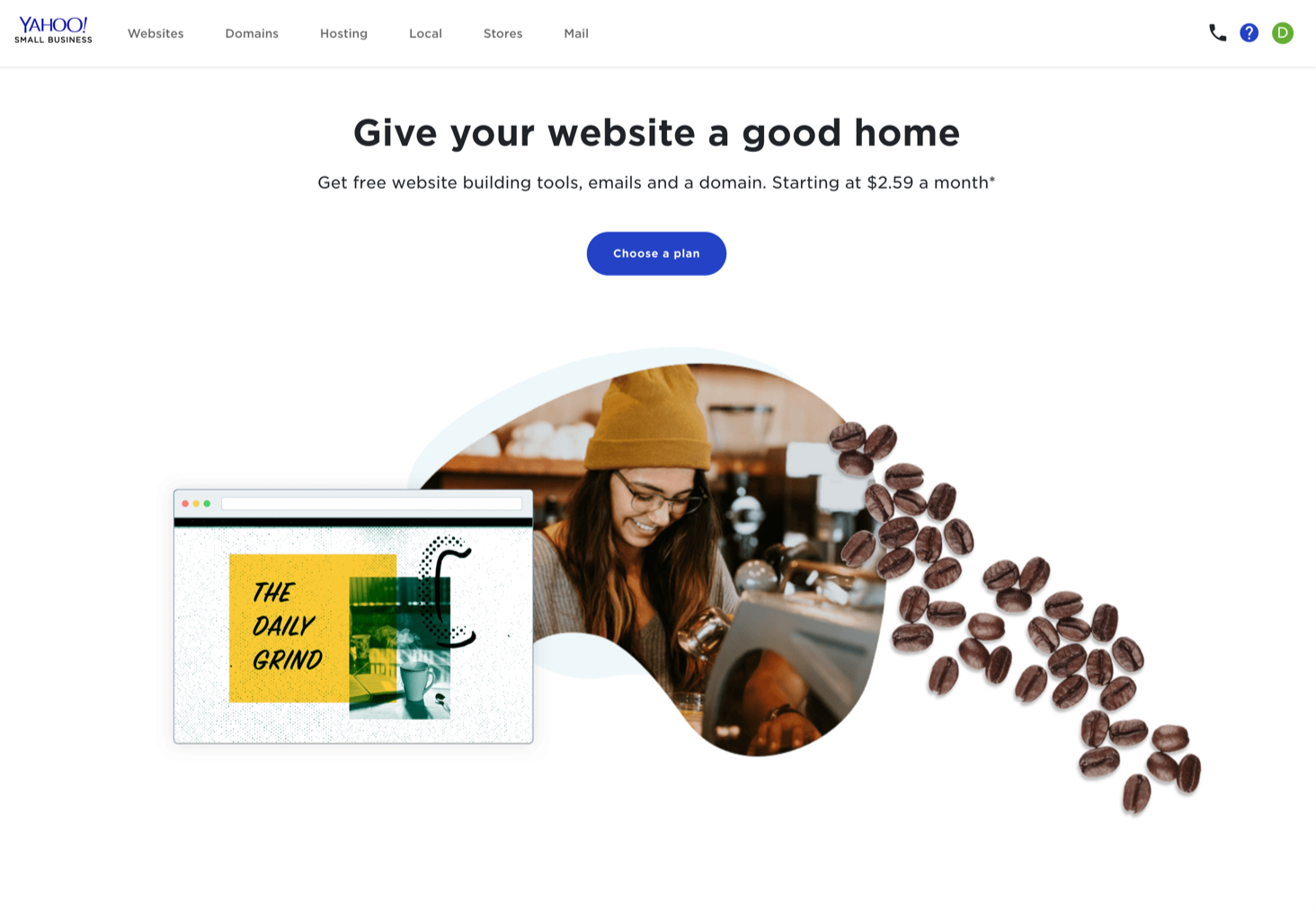 Yahoo Small Business Websites Desktop