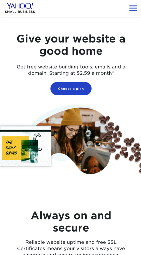 Yahoo Small Business Websites Mobile