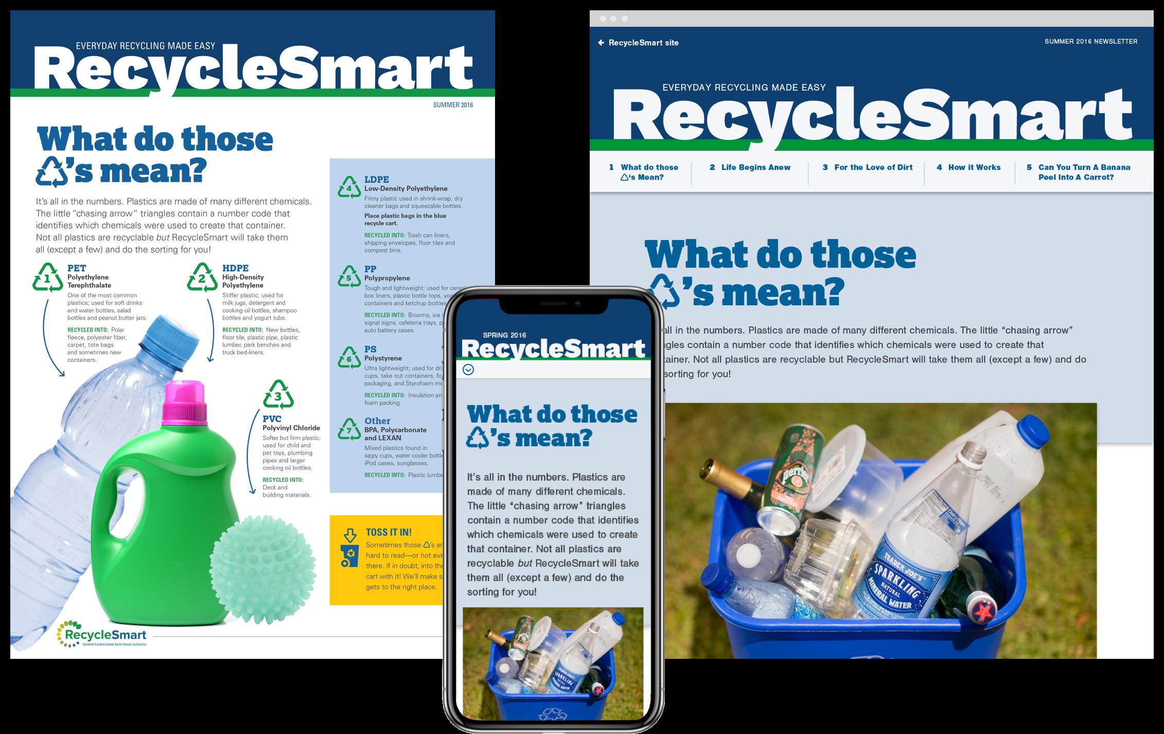 RecycleSmart newsletter site